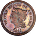 1871 5C Five Cents, Judd-1054, Pollock-1189, High R.6, PR65 Brown NGC. CAC....(PCGS# 71313)