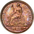 1870 10C Ten Cents, Judd-833, Pollock-923, High R.6, PR66 Red and Brown NGC. CAC....(PCGS# 71077)