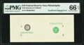 Insufficient Inking of Second Print Error Fr. ????-C $10 ???? Federal Reserve Note. PMG Gem Uncirculated 66 EPQ
