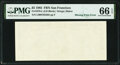 Error Notes:Blank Reverse (100%), First Print Missing Error Fr. 1978-L $5 1985 Federal Reserve Note. PMG Gem Uncirculated 66 EPQ.. ...