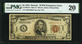 Small Size:World War II Emergency Notes, Fr. 2301* $5 1934 Mule Hawaii Federal Reserve Note. PMG Very Fine 20.. ...