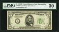 Fr. 1958-J $5 1934B Federal Reserve Note. PMG Very Fine 30