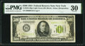 Fr. 2201-B $500 1934 Light Green Seal Federal Reserve Note. PMG Very Fine 30