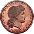 Patterns, 1882 50C Shield Earring Half Dollar, Judd-1701, Pollock-1903, R.7, PR62 Red PCGS....