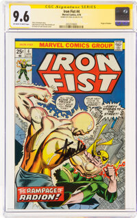Iron Fist #4 Signature Series: Stan Lee (Marvel, 1976) CGC NM+ 9.6 Off-white to white pages
