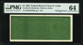 Test Note Error Fr. 1922-H $1 1995 Federal Reserve Note. PMG Choice Uncirculated 64
