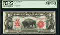 Large Size:Legal Tender Notes, Fr. 121 $10 1901 Legal Tender PCGS Choice About New 58PPQ.. ...