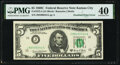 Error Notes:Doubled Face Printing, Second Print Doubled Error Fr. 1972-J $5 1969C Federal Reserve Note. PMG Extremely Fine 40.. ...