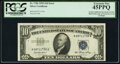 Partial Additional Overprint at Left; Blind Embossing of Overprint at Left and Right Fr. 1706 $10 1953 Silver Certificat...