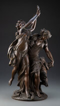 Sculpture, After Claude Michel Clodion (French, 1738-1814). Bacchanalia. Bronze. 22-1/2 inches (57.2 cm). Incised Clodion, 1763...