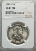Franklin Half Dollars, 1949-S 50C MS64 Full Bell Lines NGC. This lot will also include a 1950-D 50C MS64 Full Bell Lines NGC.... (Total: 2 coins)
