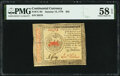 Colonial Notes:Continental Congress Issues, Continental Currency January 14, 1779 $35 PMG Choice About Unc 58 EPQ.. ...