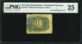 Fractional Currency:Second Issue, Fr. 1244 10¢ Second Issue Inverted Back Error PMG Very Fine 25.. ...