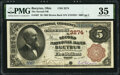 Bucyrus, OH - $5 1882 Brown Back Fr. 467 The Second National Bank Ch. # 3274 PMG Choice Very Fine 35.</