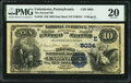 National Bank Notes:Pennsylvania, Uniontown, PA - $10 1882 Date Back Fr. 542 The Second National Bank Ch. # (E)5034 PMG Very Fine 20.. ...