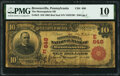 National Bank Notes:Pennsylvania, Brownsville, PA - $10 1902 Red Seal Fr. 613 The Monongahela National Bank Ch. # (E)648 PMG Very Good 10.. ...