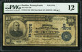 National Bank Notes:Pennsylvania, Dunbar, PA - $10 1902 Date Back Fr. 616 The First National Bank Ch. # (E)7576 PMG Fine 12.. ...