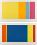 Prints & Multiples, Jay Rosenblum (1933-1989). Arcadia #5 and Arcadia #6 (two works), 1979. Screenprint in colors on wove paper. 23-1/2 ... (Total: 2 Items)