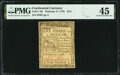 Colonial Notes:Continental Congress Issues, Continental Currency February 17, 1776 $1/3 PMG Choice Extremely Fine 45.. ...