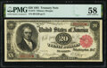 Large Size:Treasury Notes, Fr. 375 $20 1891 Treasury Note PMG Choice About Unc 58.. ...