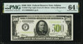 Small Size:Federal Reserve Notes, Fr. 2201-F $500 1934 Light Green Seal Federal Reserve Note. PMG Choice Uncirculated 64 EPQ.. ...