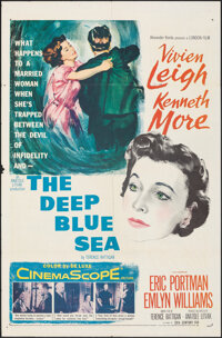 "The Deep Blue Sea & Other Lot (20th Century Fox, 1955). Folded, Overall: Fine/Very Fine. One Sheet (27"" X 41&qu..."