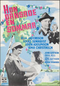 """Movie Posters:Foreign, One Summer of Happiness (Nordisk Tonefilm, 1951). Rolled, Very Fine. Full-Bleed Swedish One Sheet (27.5"""" X 39.5""""). Foreign...."""