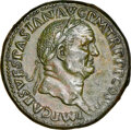 Ancients:Roman Imperial, Ancients: Vespasian (AD 69-79). AE sestertius (33mm, 27.30 gm, 5h). NGC Choice AU 5/5 - 3/5, Fine Style, light smoothing....