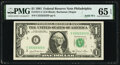 Solid Serial Number 22222222 Fr. 1911-C $1 1981 Federal Reserve Note. PMG Gem Uncirculated 65 EPQ