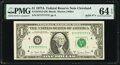 Solid Serial Number 77777777 Fr. 1910-D $1 1977A Federal Reserve Note. PMG Choice Uncirculated 64 EPQ