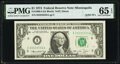 Solid Serial Number 33333333 Fr. 1908-I $1 1974 Federal Reserve Note. PMG Gem Uncirculated 65 EPQ