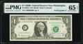 John B. Connally Courtesy Autograph Fr. 1905-C $1 1969B Federal Reserve Note. PMG Gem Uncirculated 65 EPQ