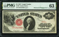 Error Notes:Large Size Errors, Obstructed Printing Error Fr. 36 $1 1917 Legal Tender PMG Choice Uncirculated 63.. ...