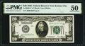 Fr. 2050-J* $20 1928 Federal Reserve Note. PMG About Uncirculated 50