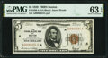 """Small Size:Federal Reserve Bank Notes, Low Serial Number """"24"""" Fr. 1850-A $5 1929 Federal Reserve Bank Note. PMG Choice Uncirculated 63 EPQ.. ..."""
