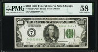Fr. 2150-G* $100 1928 Federal Reserve Note. PMG Choice About Unc 58