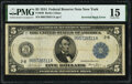 Inverted Back Error Fr. 849 $5 1914 Federal Reserve Note PMG Choice Fine 15