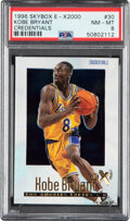 Basketball Cards:Singles (1980-Now), 1996 Skybox E-X2000 Credentials Kobe Bryant #30 PSA NM-MT 8 - Serial Numbered 245/499. ...