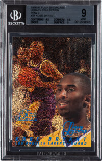1996 Flair Showcase Legacy Collection Row 0 Kobe Bryant #31 BGS Mint 9 - Serial Numbered 126/150