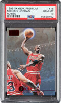 Basketball Cards:Singles (1980-Now), 1996 Skybox Premium Michael Jordan (Rubies) #16 PSA Gem MT 10 - Pop Six! ...