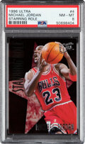 Basketball Cards:Singles (1980-Now), 1996 Ultra Michael Jordan (Starring Role) #4 PSA NM-MT 8. ...