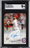Baseball Cards:Singles (1970-Now), 2017 Topps Now Bryce Harper Autographed #AS-6A SGC Mint 9 - #'d 33/99....