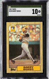 1987 Topps Barry Bonds #320 SGC Pristine 10 Gold