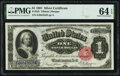 Large Size:Silver Certificates, Fr. 223 $1 1891 Silver Certificate PMG Choice Uncirculated 64 EPQ.. ...