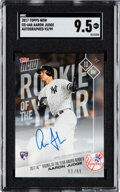 Baseball Cards:Singles (1970-Now), 2017 Topps Now Aaron Judge (Autographed) #0S-64A SGC 9.5 - #'d 93/99. ...