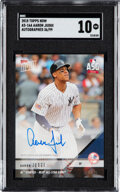 Baseball Cards:Singles (1970-Now), 2018 Topps Now Aaron Judge (Autographed ASG) #AS-16A SGC Gem Mint 10 - #'d 36/99. ...