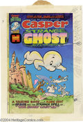 Original Comic Art:Covers, Ernie Colon (attributed) - Casper Strange Ghost Stories #5 CoverOriginal Art (Harvey, 1975). The Ghostly Trio are chased aw...(Total: 2 Original Art Item)