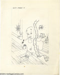 Original Comic Art:Covers, Ernie Colon - Casper Cover Original Art (Harvey, undated). Casperwhistles to his mousey pal for a swiss cheese snack on thi...