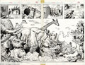Original Comic Art:Splash Pages, Ron Wilson and Alfredo Alcala - Hulk #17 Splash Pages Original Art(Marvel, 1979). A stunning two-page spread showing a hoar...