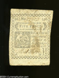 Colonial Notes:Connecticut, Connecticut October 11, 1777 5d Extremely Fine. A nice ...